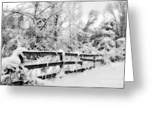 Winter Scene Greeting Card by Kathy Jennings