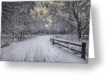Winter Sunrise Greeting Card by Sebastian Musial