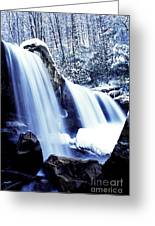 Winter Waterfall Greeting Card by Thomas R Fletcher