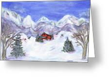 Winter Wonderland - Www.jennifer-d-art.com Greeting Card by Jennifer Skalecke