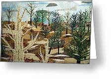 Winter Woods Greeting Card by Charlene White