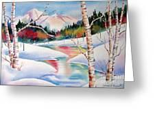 Winter's Light Greeting Card by Deborah Ronglien