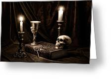 Wisdom Of The Ages Still Life Greeting Card by Tom Mc Nemar