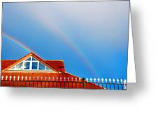 With Double Bless Of Rainbow Greeting Card by Jenny Rainbow