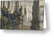 Woe Unto You Greeting Card by Tissot