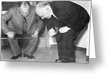 Wolfgang Pauli And Niels Bohr Greeting Card by Margrethe Bohr Collection and AIP and Photo Researchers