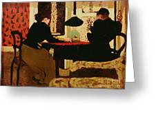 Women by Lamplight Greeting Card by vVuillard