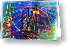 Wonder Wheel At The Coney Island Amusement Park Greeting Card by Lanjee Chee