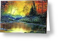 Wooded Serenity Greeting Card by Dee Flouton