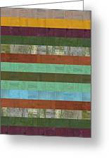 Wooden Abstract X  Greeting Card by Michelle Calkins