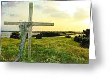 Wooden Cross 1 Greeting Card by Sheri McLeroy