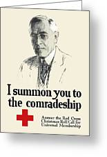 Woodrow Wison Red Cross Roll Call Greeting Card by War Is Hell Store