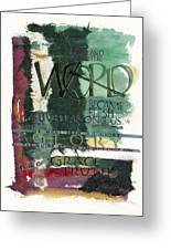 Word Greeting Card by Judy Dodds