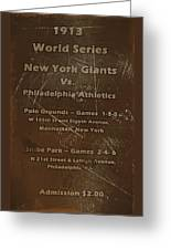 World Series 1913 Greeting Card by David Dehner