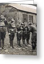 World War I: Gas Masks Greeting Card by Granger