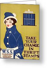 World War I: Thrift Stamps Greeting Card by Granger