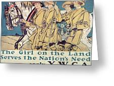 World War I YWCA poster  Greeting Card by Edward Penfield