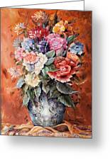 Wrapped In Flowers Greeting Card by Ellen Lerner ODonnell