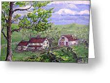 Wyoming Homestead Greeting Card by Phyllis Mae Richardson Fisher