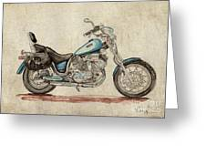 Yamaha Xv 1100 Virago Greeting Card by Max Maier