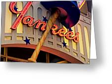 Yankee Clubhouse Greeting Card by Joann Vitali