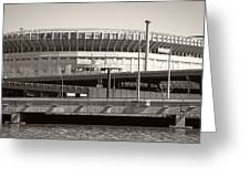 Yankee Stadium    1923  -  2008 Greeting Card by Daniel Hagerman