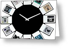 yankees Clock Greeting Card by Paul Van Scott