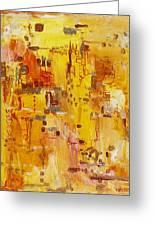 Yellow Conundrum Greeting Card by Regina Valluzzi