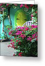 Yellow Door Greeting Card by Michael Thomas