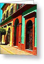 Yellow House By Michael Fitzpatrick Greeting Card by Olden Mexico
