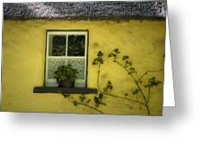 Yellow House County Clare Ireland Greeting Card by Teresa Mucha
