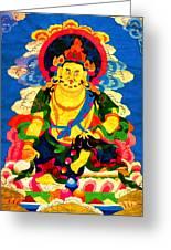 Yellow Jambhala 4 Greeting Card by Lanjee Chee
