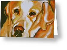 Yellow Lab Amazing Grace Greeting Card by Susan A Becker