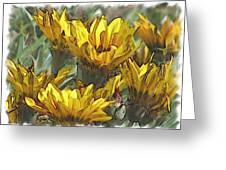 Yellow  Greeting Card by Laurianne Nash