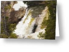 Yellowstone Falls Greeting Card by Jo-Anne Gazo-McKim