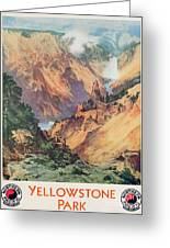 Yellowstone Park Greeting Card by Thomas Moran