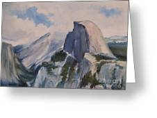 Yosemite Half Dome From Glacier Point Greeting Card by Karen Winters