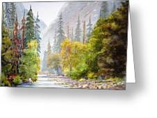 Yosemite Mist Greeting Card by Shirley Braithwaite Hunt