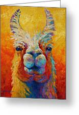 You Lookin At Me Greeting Card by Marion Rose