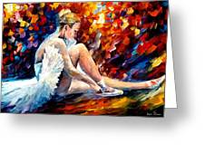 young ballerina Greeting Card by Leonid Afremov