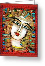 Young Girl Greeting Card by Albena Vatcheva