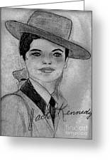Young Jackie Kennedy Greeting Card by Sonya Chalmers