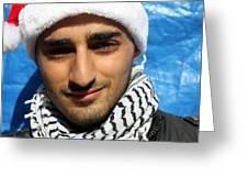 Young Palestinian Man Greeting Card by Munir Alawi