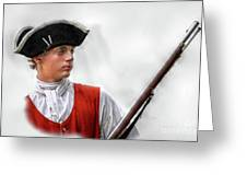 Youthful Soldier With Musket Greeting Card by Randy Steele