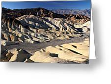 Zabriskie Point In Death Valley Greeting Card by Pierre Leclerc Photography
