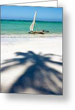 Zanzibar Beach Greeting Card by Adam Romanowicz