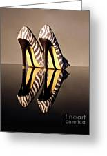 Zebra Print Stiletto Greeting Card by Terri Waters