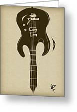 Zen Guitar Greeting Card by Russell Pierce