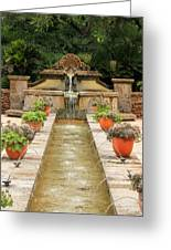 Zen Water Feature Waterfall Greeting Card by Sarah Broadmeadow-Thomas