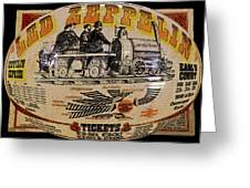 Zeppelin Express Work B Greeting Card by David Lee Thompson